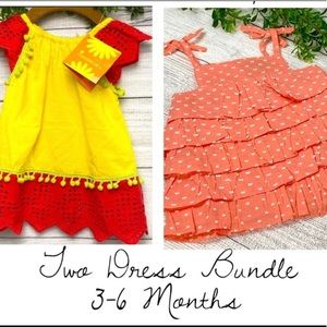 NEW Bundle of 3-6 Month Summer Baby Dresses